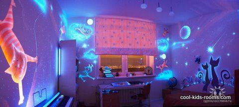 glow in the dark room!!
