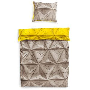 Povlečení Snurk Monogami Yellow, 140x200 cm