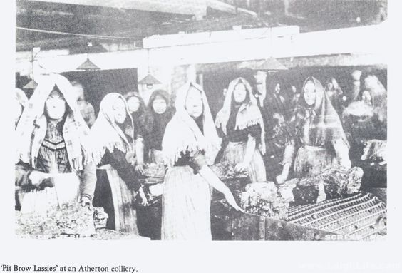 Pit Brow Lassies at Atherton Colliery