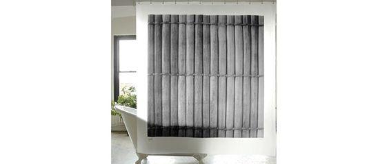 Cortinas De Baño Japonesas:Cortina de ducha o de baño sostenible Bamboo Shower Curtain de Izola