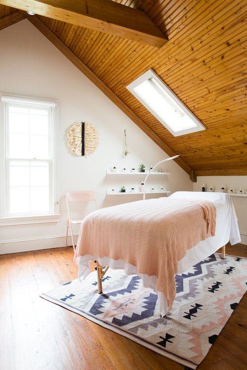 Skincare Poppy Monroe Natural Nails Sugaring Organic Skincare Facials And Makeup Massage Room Decor Massage Room Design Spa Treatment Room