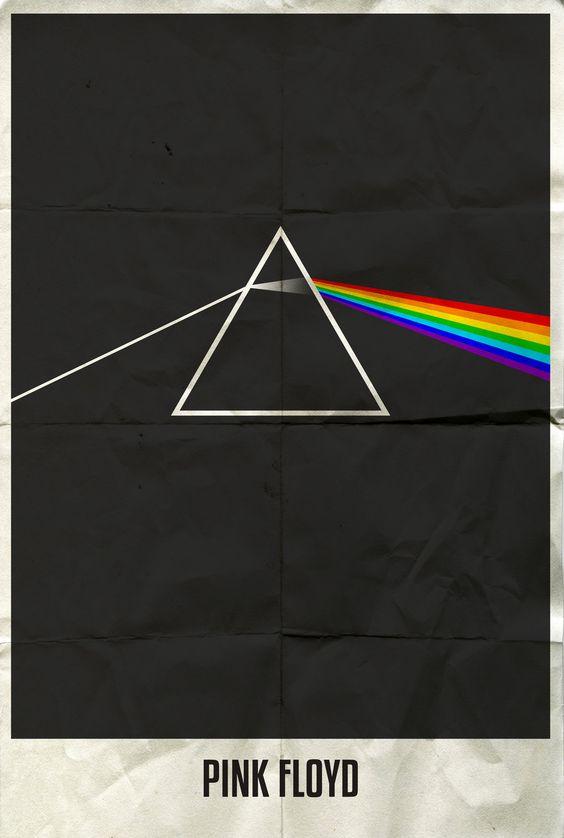 Minimalist Classroom Music : Rock band minimalist poster pink floyd p o s t e r