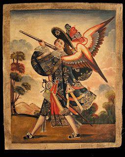 Angel arcabucero de la Iglesia De Úrquia, prov. de Jujuy, AR