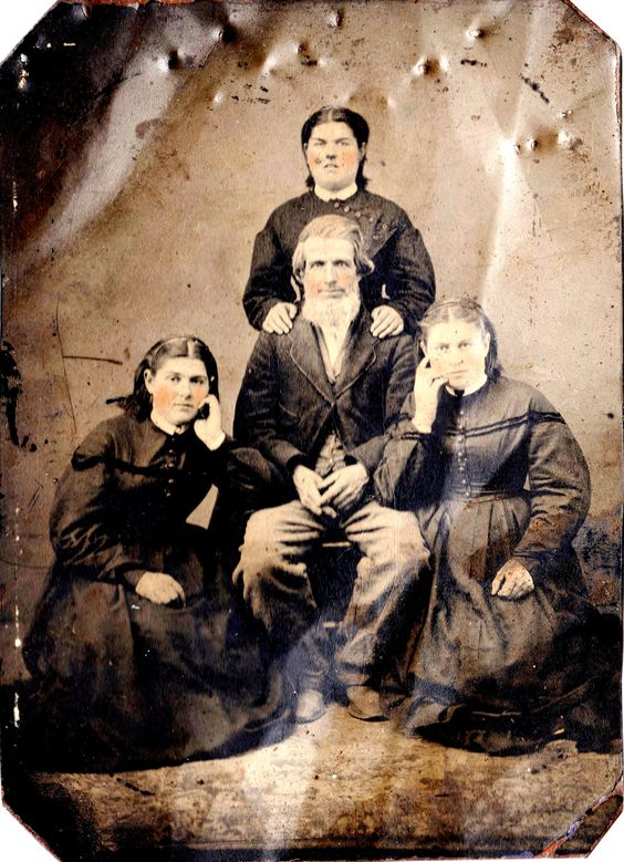 Nelson William with his Daughters