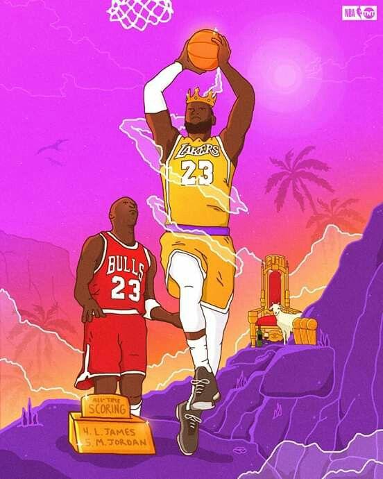 Goat James Lebron James Lakers Lebron James Art Nba