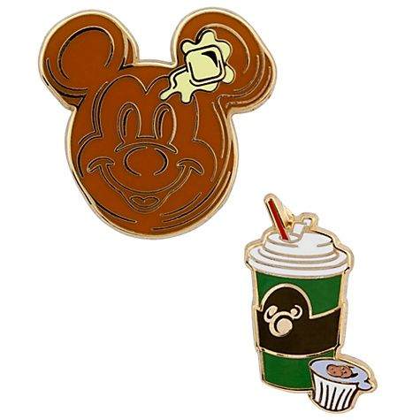 Pancakes and Coffee Breakfast Mickey Mouse Pin Set -- 2-Pc.  $10.95: