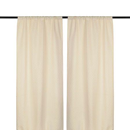 Taupe Rutland Curtain Panel Set, 96 in.   Kirklands
