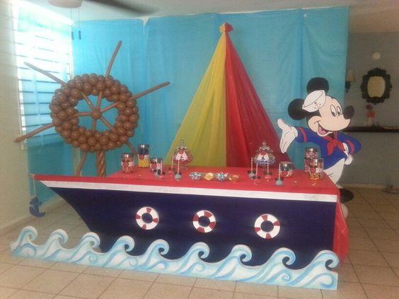 Decoracion de mickey marinero ideas para fiestas - Decoracion de barcos ...
