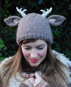 Reindeer Knit Hat.....<3: Antler Hat, Knitting Patterns, Antlers Hat, Tiny Owl