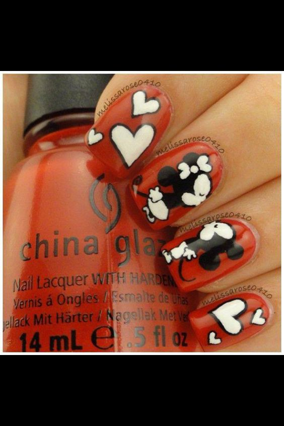 Minnie Mouse Nails ❤️