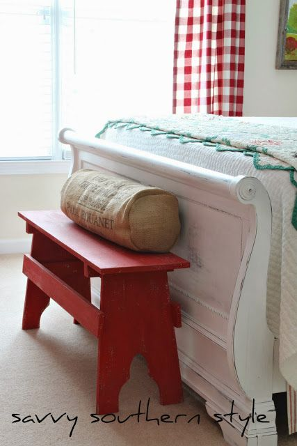 Red Bench Beauty Things To Do Pinterest Furniture