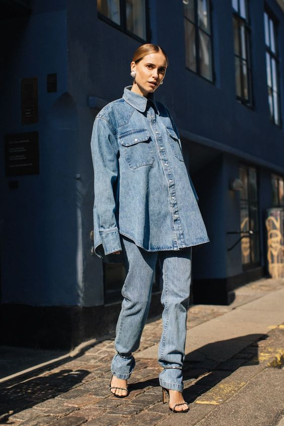 The Denim Style We're Loving For Fall 2019 #denimstreetstyle The Denim Style We're Loving For Fall 2019