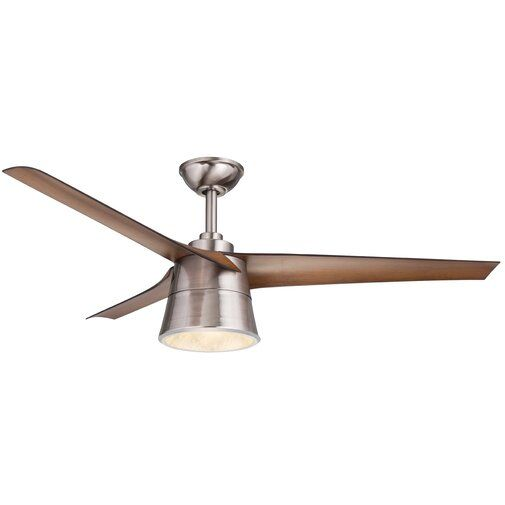 52 Crestwood 3 Blade Led Ceiling Fan With Remote Modern Ceiling Fan Ceiling Fan With Remote Ceiling Fan
