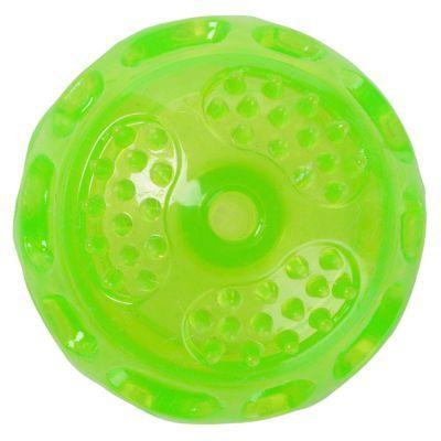 Mijn favoriete bal, stuitert leuk, gooit licht, drijft en nog goedkoop ook. Niet dat dat belangrijk is, hij gaat al 2 jaar mee!