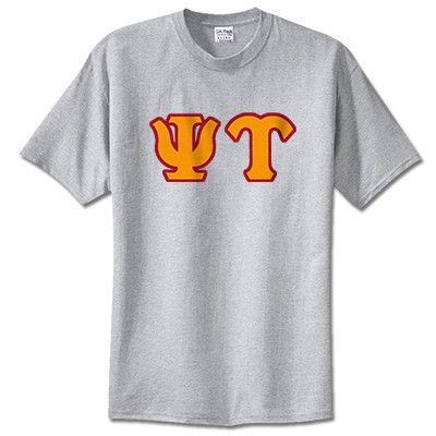 Psi Upsilon Fraternity Lettered T-Shirt