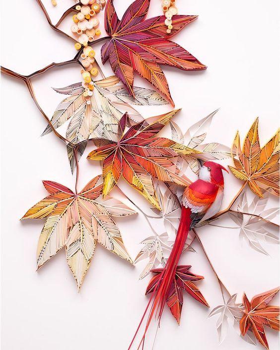 Lovely autumnal paper art by Yulia Brodskaya