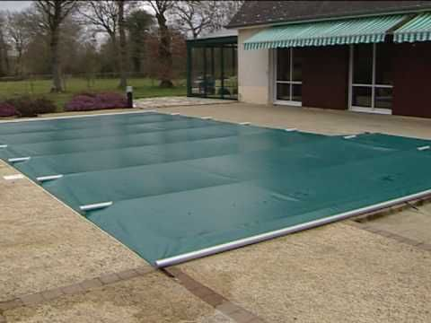 Del Mikado Couverture A Barres De Securites Youtube Pool Cover Pool Water Features Pool