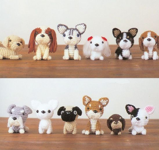Free Pattern For Amigurumi Dog : Japanese Amigurumi Dogs Toy dogs, Toys and Puppys