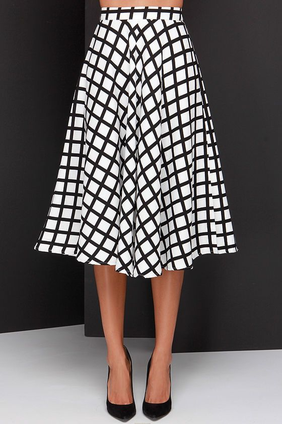 awesome graphic midi skirt:
