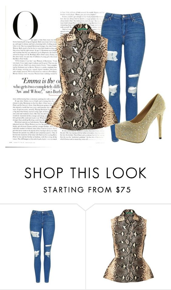 """""""BEAUTIFUL STRANGER"""" by meliimelii1997 ❤ liked on Polyvore featuring Topshop, Emilia Wickstead, Eye Candie and Vanity Fair"""
