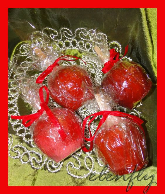 CookArt | by elenfly: ΚΟΚΚΙΝΑ ΚΑΡΑΜΕΛΩΜΕΝΑ ΜΗΛΑ - RED CARAMELIZED APPLES: Theme Red, White Wedding, Red Caramelized, Party Theme, Elenfly Κοκκινα, Red Riding, Snow White