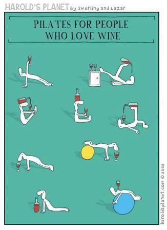 Pilates and wine