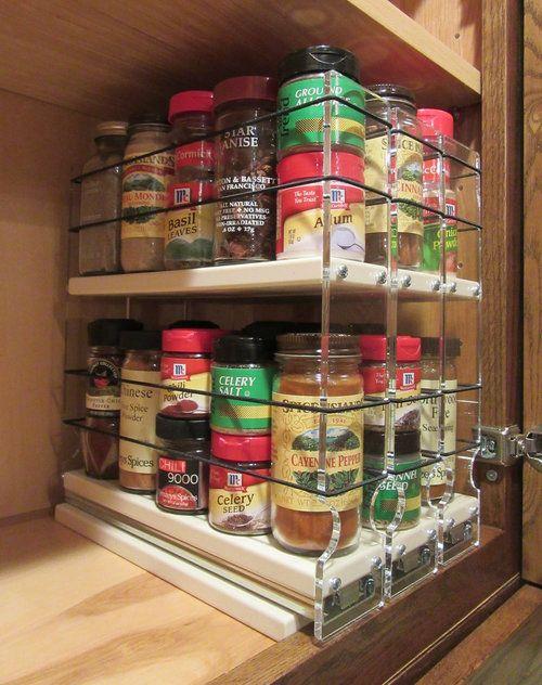 222x2x11 Spice Rack Drawer Cream Spice Rack Organization Small Kitchen Items Kitchen Cabinet Remodel