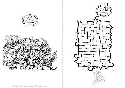 Fazendo a Nossa Festa - Colorir: Os Vingadores - Livrinho de Atividades!