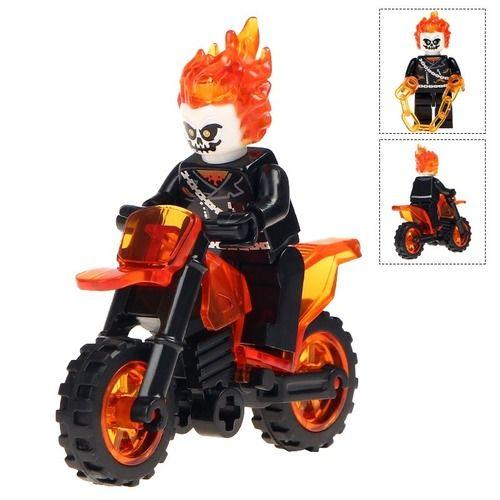 Deadpool MotorCycle Set Marvel Comic Minifigure   Red NEW Fits Lego