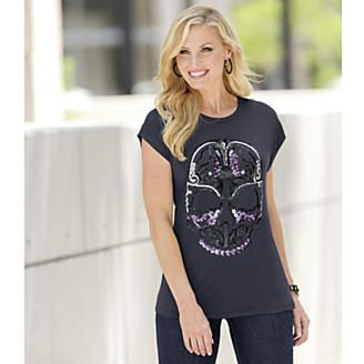 Skull Tee from Midnight Velvet®