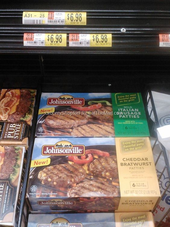 Johnsonville Burgers Just $4.98 At Walmart!