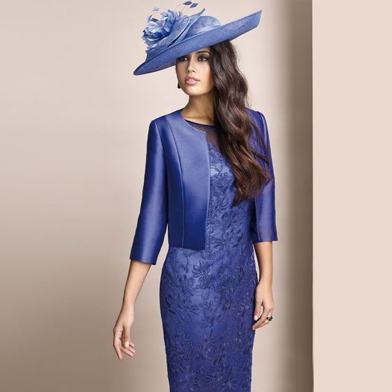 Zeila Blue Lace Dress and Jacket | Zeila at Jonzara.co.uk ...