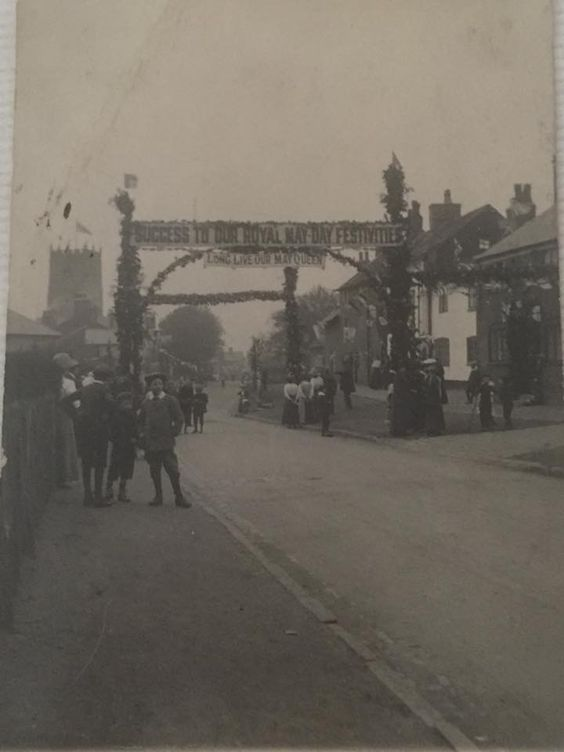 Crosstown May Day - Mobberley Road, early 1900's?