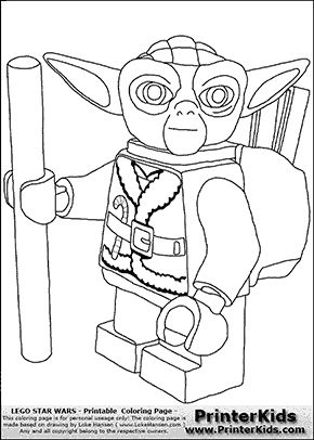 Lego star wars lego and star wars on pinterest for Lego yoda coloring pages
