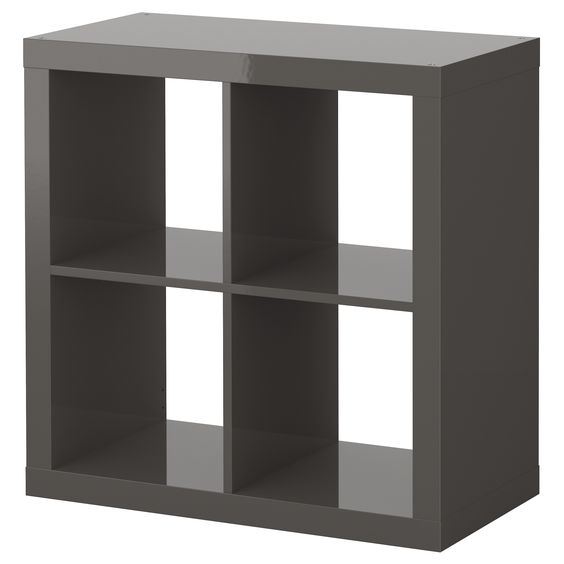 Expedit Shelving Unit High Gloss Gray Ikea Scrapbook