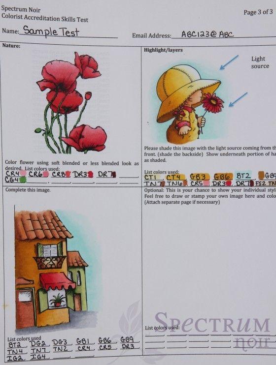 Spectrum Noir Accreditation Color Test Page 2