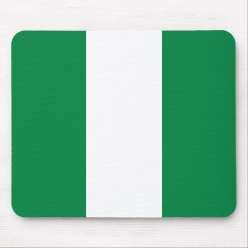Nigeria Flag Mousepad Zazzle Com In 2020 Nigeria Flag Mouse Pad Design Flag