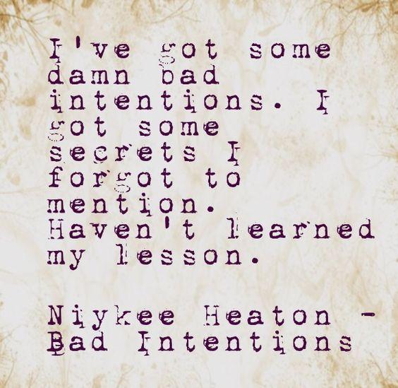 Niykee Heaton - Bad Intentions