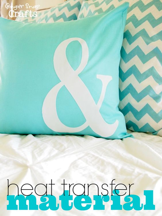 Cute Heated Pillows : DIY Pillow with Silhouette Heat Transfer Material {tutorial} and giveaway. http://www ...