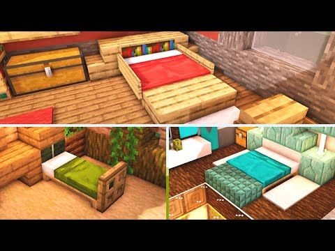 11 Minecraft Bedroom Design Ideas To Build For Your House Tutorial Youtube Minecraft Bedroom Minecraft Designs Minecraft Interior Design