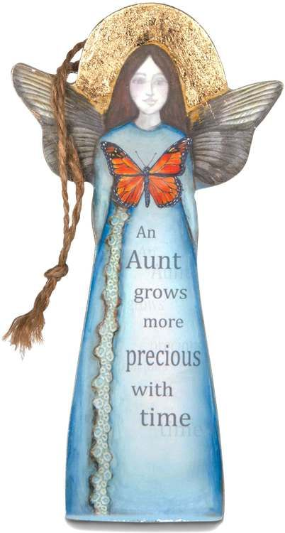 "Aunt, 5.5"" Angel Ornament - Sherry Cook Studio - Pavilion"