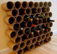 Stackable Wine Racks This is an intriguing idea - recycled cardboard is  perhaps too rustic for