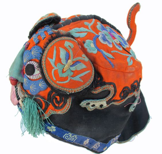 Embroidered Han Chinese Orange Tiger Hat~Image © Pam Najdowski