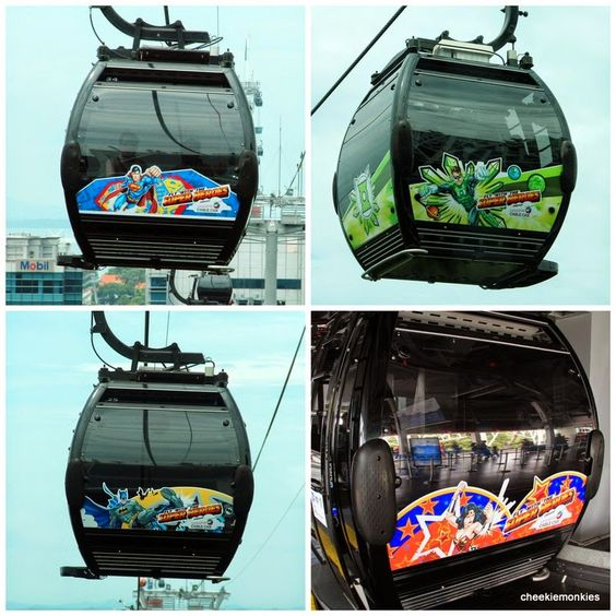 Cheekiemonkies: Singapore Parenting & Lifestyle Blog: DC Superheroes take over the Cable Cars Cheekie Monkies