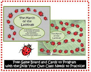 FREE Ladybug board game - use it with your own alphabet cards, math flashcards, vocab words, etc. to make exactly the game your class needs!