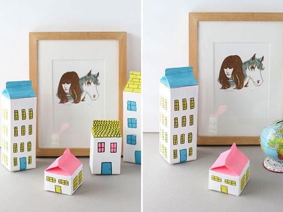 DIY Milk Carton Houses - Momtastic