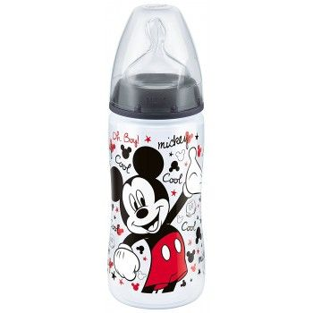 300ml x 2 Baby Bottle Anti Colic Silicone Teat Minnie Mouse NUK First Choice