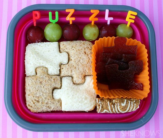 Puzzle bento box lunch