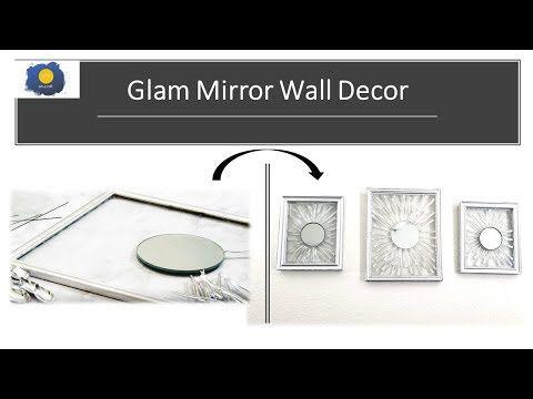 Diy Art And Crafts Youtube In 2020 Glam Mirror Dollar Tree Diy Mirror Wall Decor