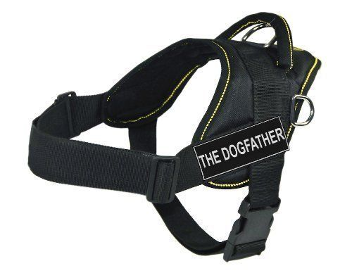 DT Fun Harness, The Dogfather, Black With Yellow Trim, Medium - Fits Girth Size: 28-Inch to 34-Inch * You can find out more details at the link of the image.